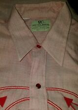 Vintage Dee Cee Branson DC Western Pearl Snap Button Front Shirt - M