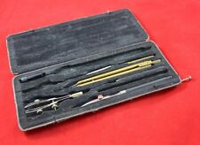 GERMAN WWII WEHRMACHT COMPASS DRAFTING SET IN BOX FORM MAP CASE WAR RELIC