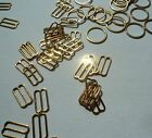Bra /Lingerie Making Gold Coloured Metal Bra Sliders and Rings 10mm Size