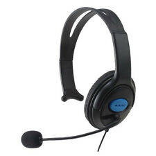 HE55 3.5mm Jack Connector Chat Headset Adjustabe Swive Boom Microphone Black