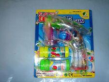 Seifenblasenpistole  mit 2 Flaschen und LED + 3 Batterie
