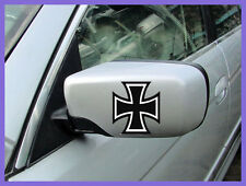 2x IRON CROSS German Maltese Motorcycle TC Motorbike Chopper Car Decal Stickers