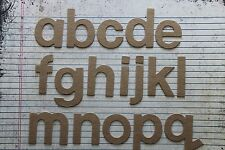 "2"" chipboard Block lowercase unfinished/raw alphabet 26 letters total"