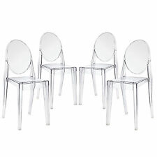 4 X Ghost Chair Clear Philippe Starck Style