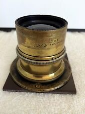 Antique Brass Voigtlander Collinear II No. 5 f6.3 Lens.