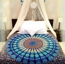 Indian Ombre Mandala Tapestry Wall Hanging Bedspread Throw Dorm Decor Navy Fast