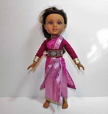 "2010 Playmates Inc Assam from India G2G Hearts For Hearts 14"" Doll"