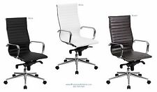 Quality 18 HIGH BACK Office Desk Task Conference Chairs BLACK BROWN or WHITE