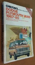 Chilton's Repair and Tuneup Guide - Dodge-Plymouth Vans: 1967-1980