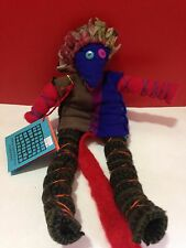 OOAK Crispina Ffrench Patchwork Ragamuffin Toy Doll Recycled wool NWT Christmas