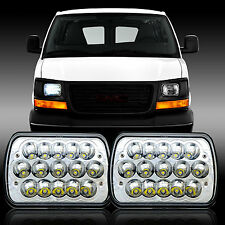 "2pcs 7X6"" Inch LED Cree Light Bulbs Crystal Clear Sealed Beam Headlight Headlamp"