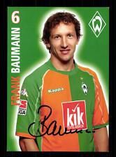 Frank Baumann Autogrammkarte Werder Bremen 2005-06 Original + A 135306