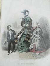 2)-gravure ancienne mode  -  les modes parisiennes  -