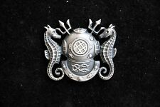 DIVER MASTER HAT LAPEL PIN MADE IN THE US NAVY REGULATION BADGE GIFT UNDERWATER