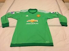 Adidas Manchester United Home Goal Keeper GK Shirt 2015 2016 XL Green DE GEA 1