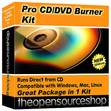 Professional CD Burner DVD Copying Software Pack – Easy Disc Burning / Writing