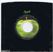 Paul McCartney 45 Junior's Farm 1974 NM Billboard # 3 Canada Apple 1875