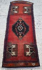 Turkish Vintage Door Mat Bath Room Rug Small Yastik Carpet Floor Mat 1.6x4.4ft