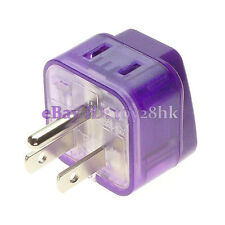 Universal to North American 2 IN 1 NEMA 5-15P US Canada Electrical Plug Adapter