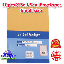 10Pcx Kraft Brown Peel N Seal Envelopes A5 C5 Document Paper Letter 162 x 229mm