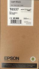 10 Genuine Empty Epson 4900 Inkjet Cartridges T6537 Light Black 200 ml OEM Chip
