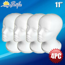 "Female STYROFOAM FOAM MANNEQUIN MANIKIN head wig display hat glasses 11"" 4pc"