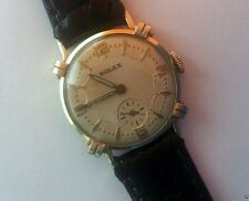 EARLY ROLEX 14K Solid Yellow Gold 585 Wind Up Mechanical RUNS & KEEPS TIME