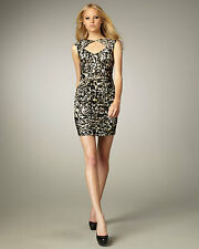 NANETTE LEPORE 2-SEXY FIERY ANGEL SILK RUCHED LEOPARD CURVE-ENHANCING DRESS 4
