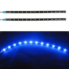 2Pcs Auto Car 12V 5050 30CM-12SMD LED Blue Flexible Strips Decoration Light Lamp