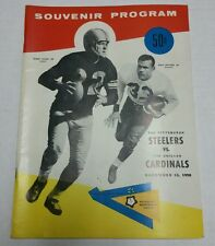 1958 STEELERS vs CARDINALS Program Great Condition Bobby Layne Ollie Matson