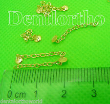 2pcs Gold Traction chain button dental orthodontics archwire elastics ring