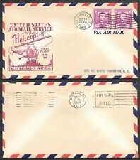 1940 Air Mail Cover - Helicopter Service, Chicago Area