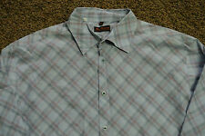 BEN SHERMAN REG FIT Shirt 5 XXL NWOT$129 L/S Mulberry Plaid! Button-Front! Blues
