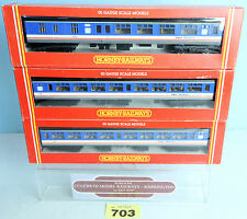 HORNBY 'OO' RAKE OF 3 NETWORK SOUTHEAST MK2 1ST & 2ND OPEN COACHES BOXED #703Y