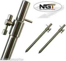 2 x CARP FISHING STAINLESS STEEL MEDIUM SIZED BANK STICKS 30-50CM NGT BANKSTICK