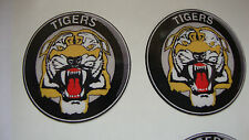 """12   TIGERS  CROWN GREEN BOWLS STICKERS  1"""" LAWN BOWLS  GREEN INDOOR BOWLS"""
