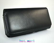 New Leather Hang a waist Pocket Case Cover Pouch for Apple iPhone 4S 4G Black