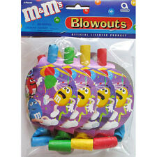 M&M's Vintage BLOWOUTS (8) ~ Birthday Party Supplies Favors Noisemakers Candy