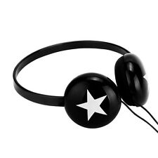 Adjustable Over-Ear Star Lightweight DJ Headphones Kids Childs MP3 iPod PC Black
