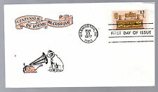 1705 -- Sound Recording -- First Day cover with Virgil Crow cachet