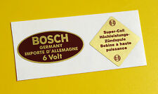 Bosch Azul 6v Bobina Sticker Decal Set Vintage 1950's Porsche 356 911 Bmw Vw