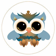 COOL OWL - FUN NOVELTY ROUND FRIDGE MAGNET - BRAND NEW - GIFT / XMAS