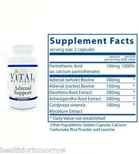 Vital Nutrients Adrenal Support 120 Caps - Exp Date: 02/2019