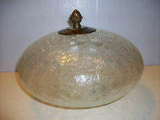 VINTAGE BEAUTIFUL CLEAR CRACKLE GLASS SWAG LAMP GLOBE SHADE HANGING LIGHT