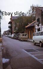 KODACHROME 35mm Slide New Orleans French Quarter Old Cars Trucks Vans 1972 L@@K!