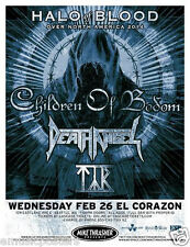 CHILDREN OF BODOM/DEATH ANGEL/TYR 2014 SEATTLE CONCERT TOUR POSTER - Metal Music
