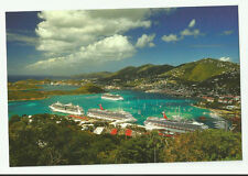 Four Cruise ships..pc   docked in St. Thomas