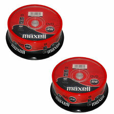 50 MAXELL DVD-RW Disc (2x) 4.7 GB 120MIN (2x25 SPINDLE) 275893 DVD Rewritable
