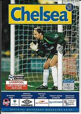 Football Programme CHELSEA v LIVERPOOL Feb 1999