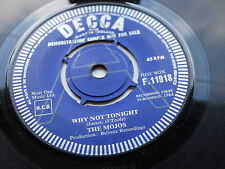 THE MOJOS   ORIGINAL 1964   DECCA DEMO  SAMPLE RECORD   WHY NOT TONIGHT